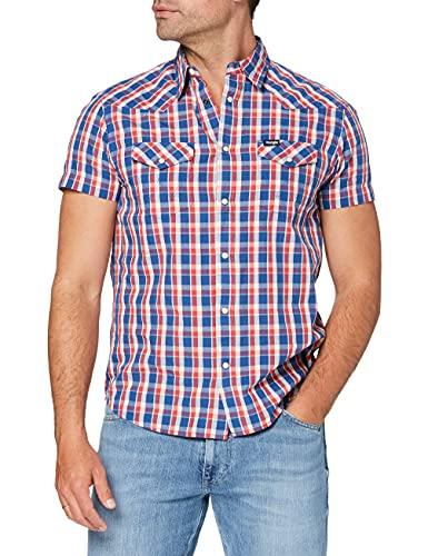 Wrangler Western Shirt Camicia, Limoges Blue, S Uomo