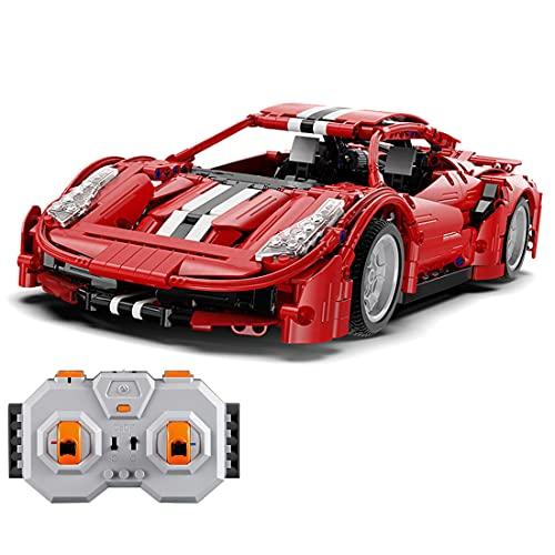 TRCC CADA C61049W 1:12 2.4G Coche de bloques de construcción con motores, 1126 piezas piezas de sujeción, compatible con Lego