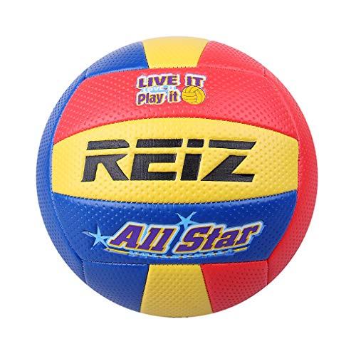 MagiDeal Mjuk volleyboll – vattentät inomhus/utomhus volleybollboll för pool, strand, gym – högpresterande PU-läder och uppblåsningsnål – välj färger – gul