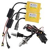 Chemini Lampadine allo xeno 2X H4 6000K Con 2X 65W Golden shell HID Ballast Per le lampadine dei fari anteriori dell'auto HID Kit di conversione allo xeno -1 anno di garanzia