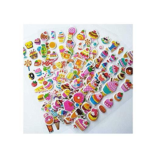 votgl Mooie cartoon snoep taart sticker dimensionale 3d cartoon pvc bubble sticker meisje/jongen verjaardag cadeau kinderen speelgoed 6 vellen