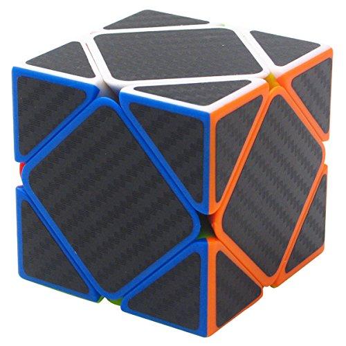 Coolzon Skewb Puzzle Cube Cubo Magico con Pegatina de Fibra de Carbono Velocidad