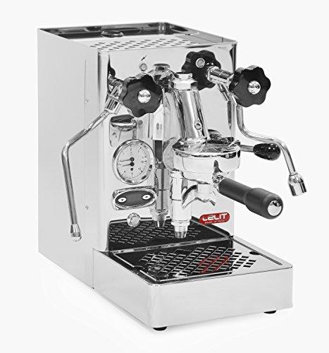 Lelit Mara PL62T Professionelle Kaffeemaschine mit E61-Gruppe für Espresso-Bezug, Cappuccino-Edelstahl-Gehäuse – Temperaturkontrolle für Kaffee durch PID, rostfrei, Kupfer, 2.5 liters, silber