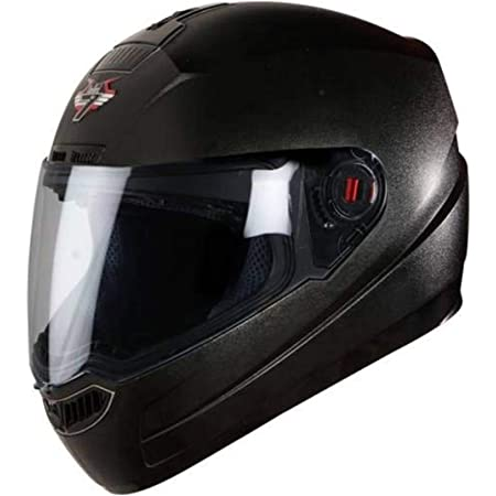 Steelbird SBA-1 7Wings Classic Full Face Helmet with Clear Visor ( Large 600mm, Classic Black with Clear Visor)