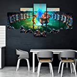 Home Decor Modular Leinwand Bild 5-teilig Asterix Obelix