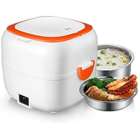 Mini cuiseur à riz multifonctionnel autoguant pour déjeuner électrique portable avec bols, plateau à vapeur pour la maison, le bureau, l'école, le riz, les légumes, la viande, les œufs de viande