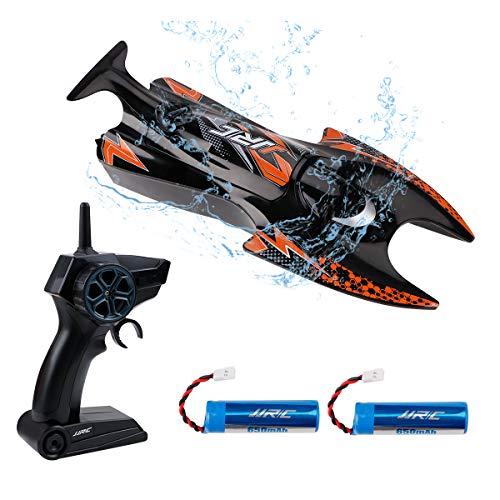S6 RC Boot, 2,4 GHz ferngesteuertes Bootsspielzeug Selbstaufrichtendes Renn-Schnellboot 6MPH für Pools und Seen
