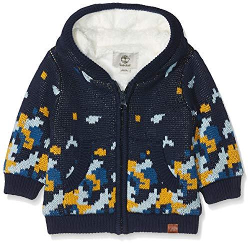 Timberland Baby-Jungen Cardigan Tricot Strickjacke - Blau (INDIGO BLUE) - 86 cm (Herstellergröße:24 Monate)
