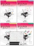 Piano Adventures Level 1 2nd Edition Bundle Set By Nancy Faber - Lesson, Theory, Performance, Technique & Artistry Books & Juliet Music Piano Keys 88/61/54/49 Full Set Removable Sticker