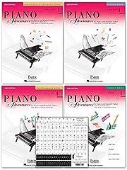 Piano Adventures Level 1- Lesson Book (HL.420171)(FF1078) Piano Adventures Level 1 - Theory Book (HL.420172)(FF1079) Piano Adventures Level 1- Performance Book (HL.420173)(FF1080) Piano Adventures Level 1- Technique & Artistry Book (HL.420190)(FF1097...