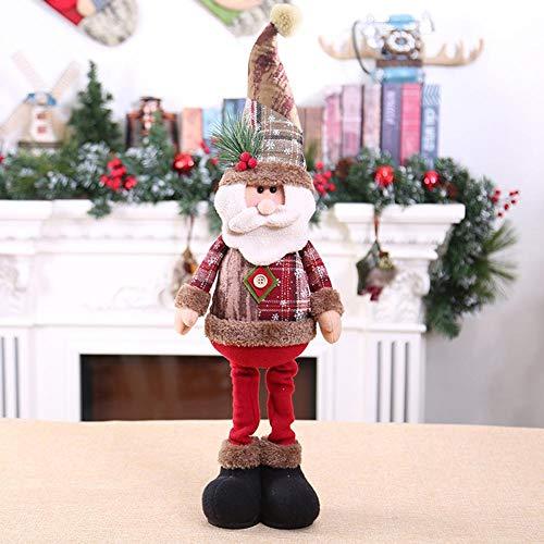Kerstversiering pop Santa sneeuwman raamdecoratie kerstboomversiering EIN wit