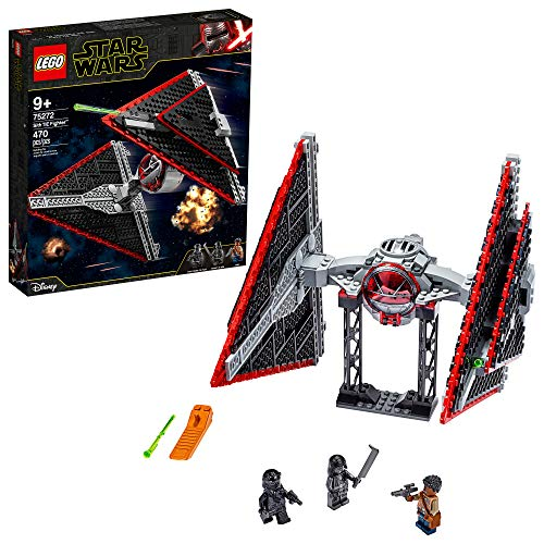 LEGO Star Wars Sith TIE Fighter 75272 Collectible Building Kit, Cool Construction Toy for Kids, New...