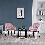 Immagine 1 homcom set di 2 sedie