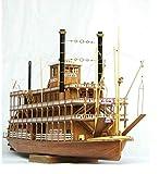 Escala 1/100 Accesorios de Modelo de Barco de Vapor el Barco de Vapor Mississippi 1783 SC Model Modelo Adulto Kit de construcción Naval