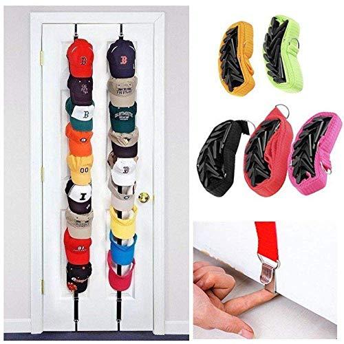 Cxjff Multifunktions Tür Zurück Haken Baseball Cap Kleiderhalter Rack Tragende Bad Küche Veranstalter Lagerung Kleiderbügel (Color : Rose Red)