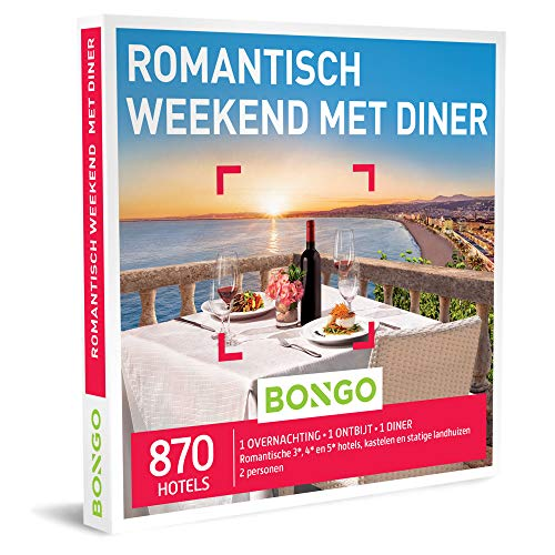 Bongo Bon - Romantisch Weekend met Diner | Cadeaubonnen Cadeaukaart cadeau voor man of vrouw | 870 romantische hotels