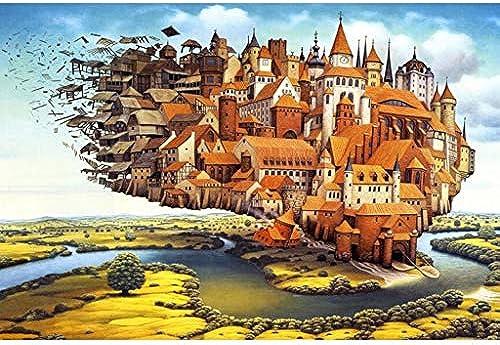 Puzzle House- Holzpuzzle, The Floating City, 500 1000 1500 2000 2700 Puzzles Spiel für Erwachsene & Kinder , Dekorative Malerei -403 (Größe   2700pc)
