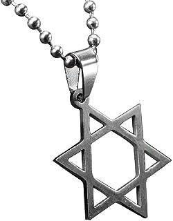 Berrywho Estrella de Collar Colgante de la Estre David Unisex del Collar Pendiente de Acero Inoxidable Collar de la Estrel...
