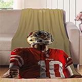 Elliot Dorothy San Francisco 49ers Die Hard Fan - Manta de forro polar para sofá (microfibra, suave, acogedora, ligera, impresa para todas las estaciones, 127 x 177,8 cm)