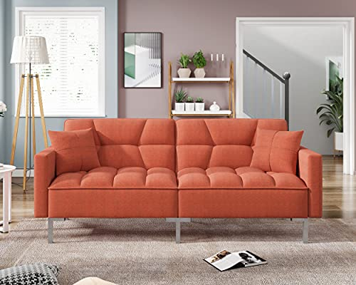 Sleeper Sofa Couches and Sofas - Couch Recliner Convertible Sofa Modern Adjustable Futon Couches Sofas Bed for Living Room Fold Up and Down Recliner Couch