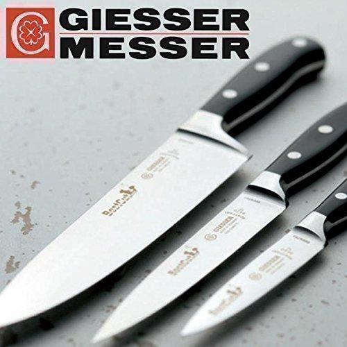 Giesser Messer BestCut Kochmesser-Set 3-teilig - 1x Officemesser 10cm, 1x Kochmesser 20cm, 1x Tranchiermesser 15cm
