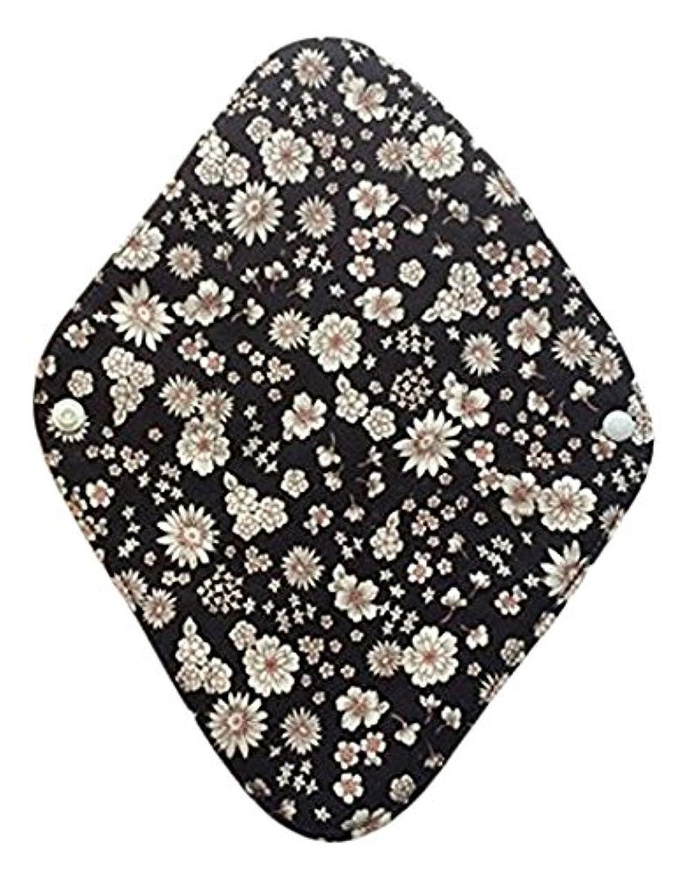 ラメスキルグローブ華布のオーガニックコットンの布ナプキンホルダー (約17×約23×約0.3cm) ボタニカルブラック