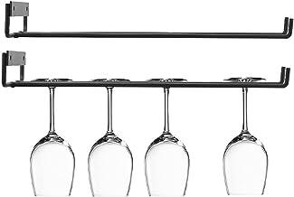 wijnglas rek 2 STKS/SET IJzeren muur mount wijnglas opknoping houder goblet stemware opslag organizer rack voor keuken Han...