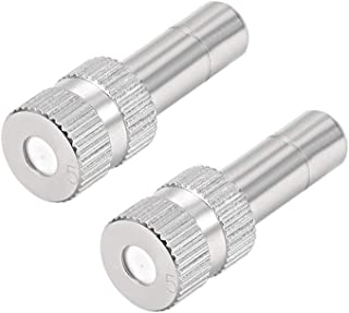 HydroMist F01-06-001 Drip-Free Extreme Series Misting Nozzle 12//24 Threading 0.008 Aperture