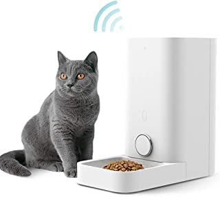 PETKIT Smart Feed Automatic Cat Feeder, Wi-Fi Enabled Pet Feeder for Cat and Small Dog, Smartphone App for iOS and Android, Work with Alexa, Portion Control, Fresh Lock System Auto Cat Food Dispenser