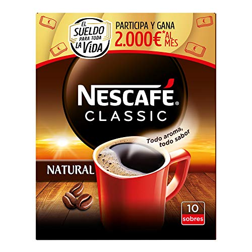 NESCAFÉ CLASSIC NATURAL todo aroma y sabor, café soluble, 100% café, estuche...