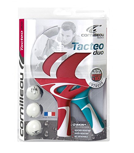 Cornilleau – Pack Duo Tacteo – 2 palas + 3 pelotas de ping, tenis de mesa