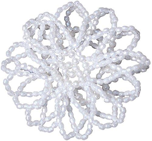 Perle filet élastique couleur : blanc cheveux de cheveux pour chignon Chignon Filet Cheveux Filet nœuds