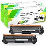 GREENPRINT Compatible 44A CF244A Tóner Cartucho Reemplazo para Usar con HP Laserjet Pro M14 M15a M15w M17 MFP M28a MFP M28w Impresora(Negro x 2,Rendimiento Alto)