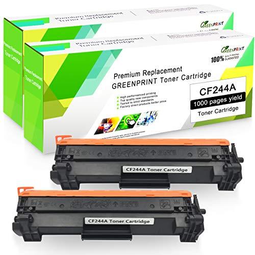Compatibele tonercartridge CF244A 44A (2 zwart) met chip GREENPRINT 1000 pagina's voor gebruik met HP Laserjet Pro kleurenlaserprinter Pro HP Pro M14 M15a M15w M17 MFP M28a MFP M28w printer