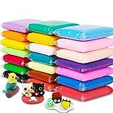 100g 24-color luz suave arcilla DIY juguete educativo niños plastilina secado al aire