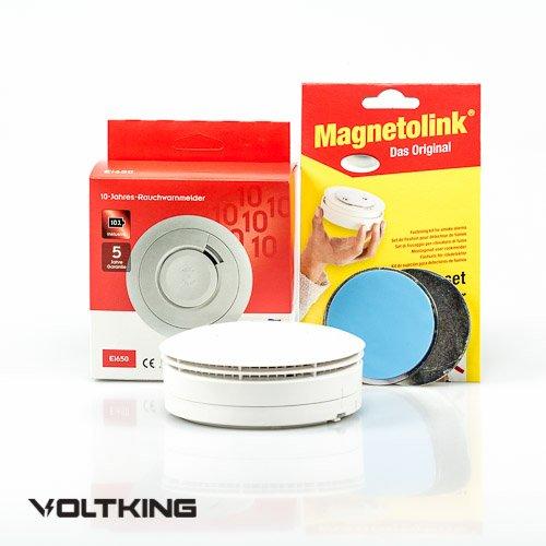 Ei Electronics Ei650 10 Jahres Rauchmelder Lithiumbatterie + Magnetolink, 10-er Set, Ei 650