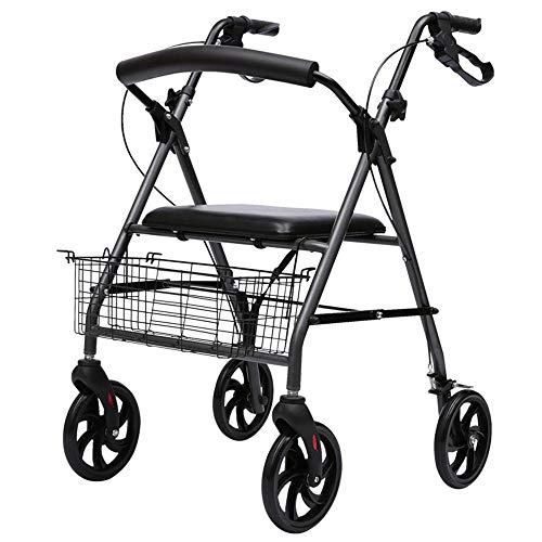 Schwerlast Rollator Gehhilfe mit Sitz,Medical Rolling Walker Unterstützt bis zu 30 kg große 20-cm-Räder - Mobilitätshilfe für Erwachsene, Senioren, Senioren und Behinderte