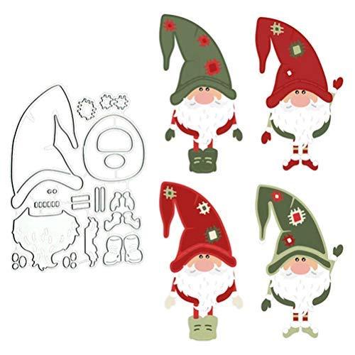 Bsopem Weihnachts-Stanzformen, Metall-Stanzform, Weihnachtsmann-Stanzform, DIY-Prägewerkzeuge, Schablonen