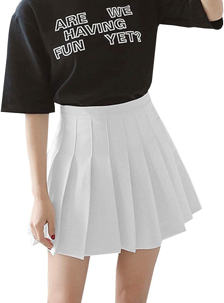 Women's Girls Popular standard High Waisted Pleated Skirt Skater School Un Tennis Alternative dealer