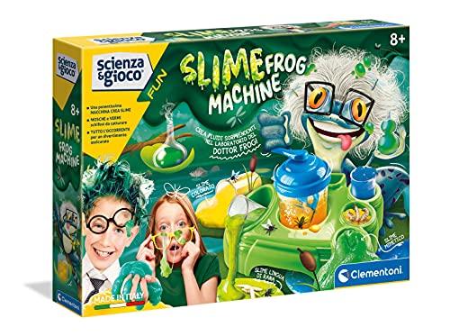 Clementoni - Scienza e Gioco Fun, Slime Frog Machine, Gioco Scientifico 8 Anni, Laboratorio Slime Esperimenti, Fabbrica Slime, Kit per Slime, Versione in Italiano, 19114