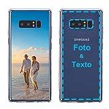 MXCUSTOM Funda Personalizada para Samsung Galaxy Note 8, Carcasa Personalizado Teléfono móvil Transparente con Foto Imagen Texto Diseña [Parachoques Blando+Panel Posterior Dura] (CHT-CR-P1)