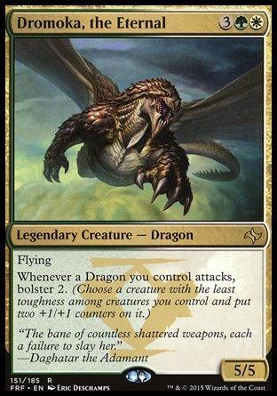 Magic The Gathering - Dromoka, The Eternal (151/185) - Fate Reforged