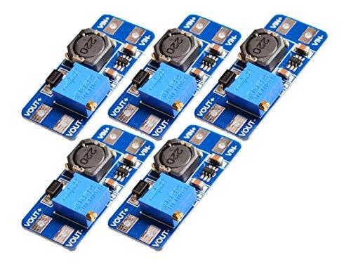 TECNOIOT 5pcs MT3608 2A Max DC-DC Step Up Power Module Booster Power Module for Arduino |5pcs MT3608 DC - DC Intensifiez Le Pouvoir Appliquez Le Module Booster 2 A Power Module pour Arduino