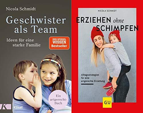 Geschwister als Team + Erziehen ohne Schimpfen im Set + 1 exklusives Postkartenset