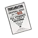 Genuine Harry Potter Proclamation Educational Decree 82 A5 Steel Sign Tin Wall Door Plaque