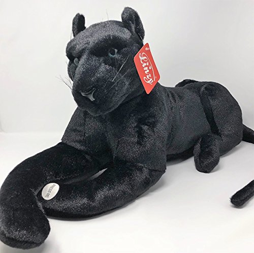 Linzy Toys L-30705 26' Lifelike Panther Stuffed Animal with Sound, One Size, Black