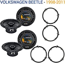 Compatible with Volkswagen Beetle 1998-2011 Factory Speaker Upgrade Harmony (2) R65 Package New