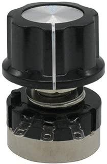 Taiss//-2pcs RV24YN20S B 501 102 502 103 504 Single Turn Carbon Film Rotary Taper 100ohm 500ohm 1k 2k 3k 5k 10k 20k 30k 100k 500k Potenci/ómetro + 2pcs A03 Knober 1 puede elegir B101 100 ohm