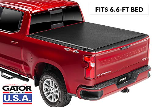 "Gator ETX Soft Roll Up Truck Bed Tonneau Cover | 53107 | Fits 2007 - 2013 GMC Sierra & Chevrolet Silverado 1500 6'6"" Bed Bed 