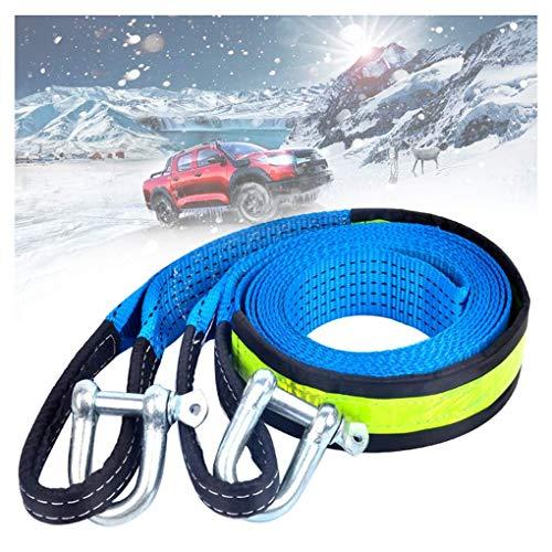 Cuerda de remolque de nylon, correa de remolque pesada 4x4, 8 toneladas de correa de remolque, con 2 ganchos de seguridad y bolsa de almacenamiento, for automóvil / SUV / vehículo agrícola (Tamaño: 4M